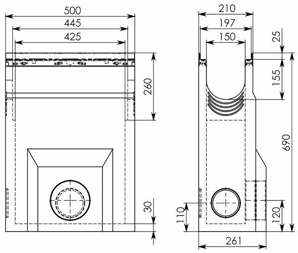 Схема 1: Пескоуловитель BGU-Z DN150