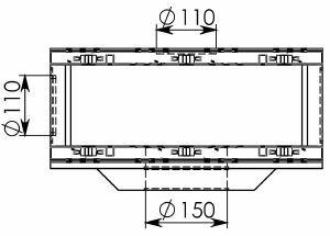Схема 2: Пескоуловитель BGU-Z DN150