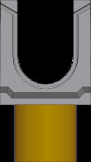 Вид слева: BGU DN100 с вертикальным выпуском