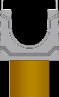 Вид слева: BGU-Z DN100 с вертикальным выпуском