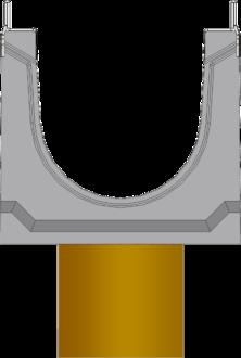 Вид слева: BGU-Z DN150 с вертикальным выпуском