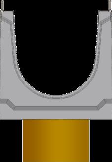Вид слева: BGU-Z DN200 с вертикальным выпуском