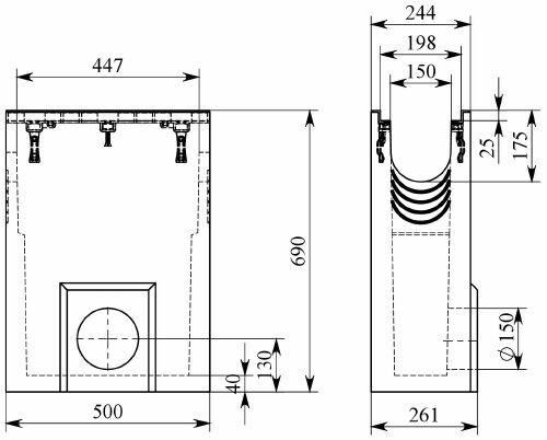 Схема 1: Пескоуловитель BGZ-S DN150