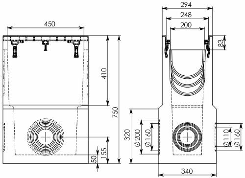 Схема 1: Пескоуловитель BGZ-S DN200