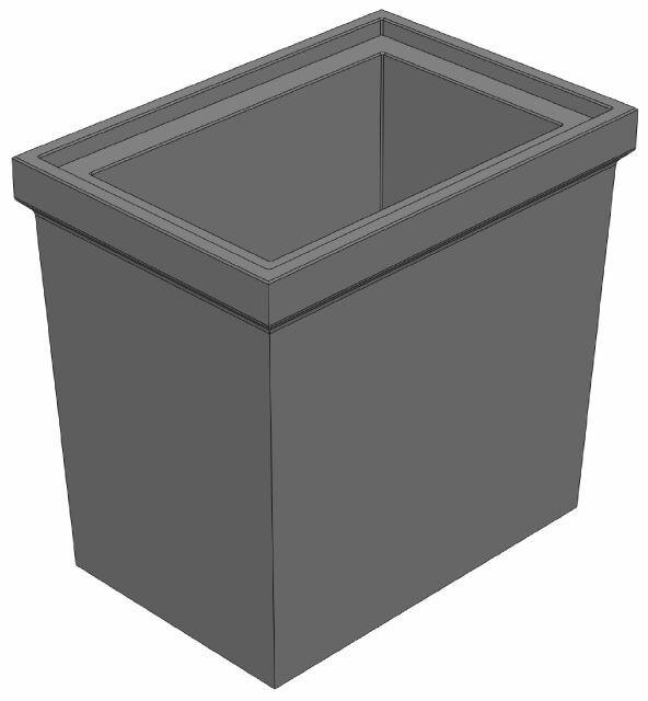 Промежуточная часть 560/390/520 универсальная для пескоуловителя DN200