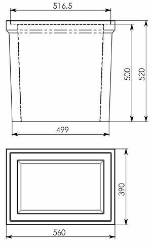 Чертеж: Промежуточная часть 560/390/520 для пескоуловителя DN200