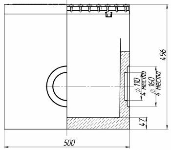 Схема: пескоуловитель BetoMax-11.19.50 бетонный