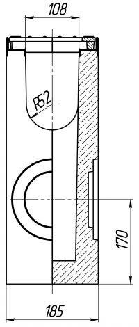 Чертеж: пескоуловитель BetoMax DN160 бетонный