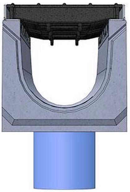 Вид слева: BetoMax DN160 с вертикальным выпуском