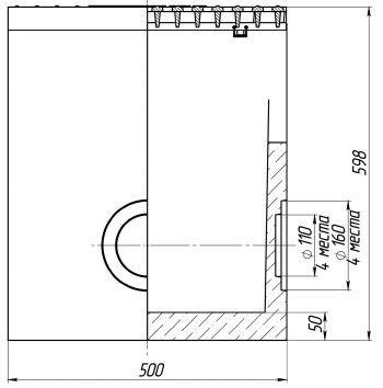 Схема: пескоуловитель BetoMax-16.25.60 бетонный