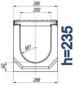 Чертеж: лоток BetoMax ЛВ-20.29.23