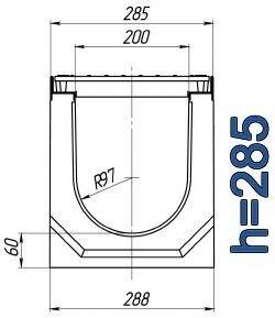 Чертеж: лоток BetoMax ЛВ-20.29.28