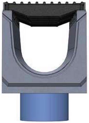 Вид слева: BetoMax DN200 с вертикальным выпуском