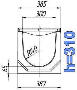 Чертеж: лоток BetoMax ЛВ-30.38.31