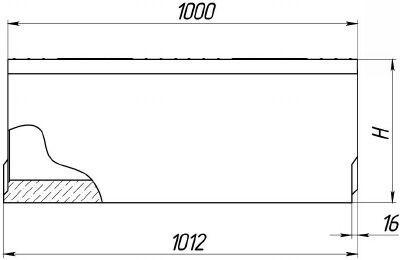 Схема: лоток BetoMax DN300 H310