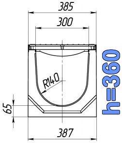 Чертеж: лоток BetoMax ЛВ-30.38.36