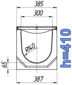 Чертеж: лоток BetoMax ЛВ-30.38.41