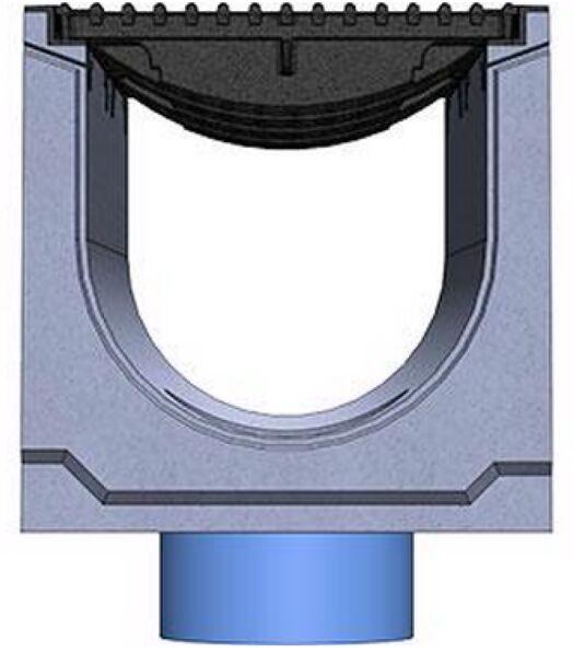 Вид слева: BetoMax DN300 с вертикальным выпуском