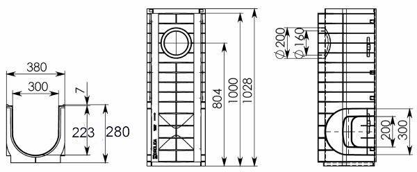 Чертеж Gidrolica Standart DN300 H280