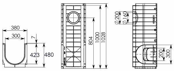 Чертеж Gidrolica Standart DN300 H480
