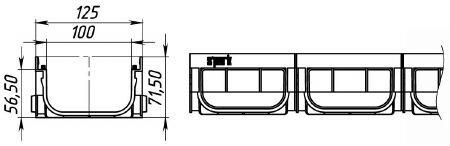 Чертеж пластикового лотка Spark ЛВ-10.14.07-ПП