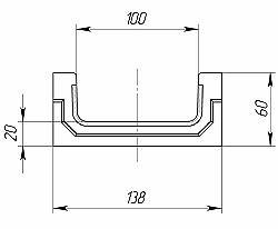 Чертеж лотка CompoMax Basic ЛВ-10.14.06-П