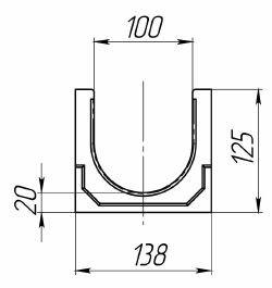 Чертеж лотка CompoMax Basic ЛВ-10.14.13-П