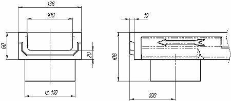 Лоток CompoMax Basic ЛВ-10.14.06-ПВ 701009