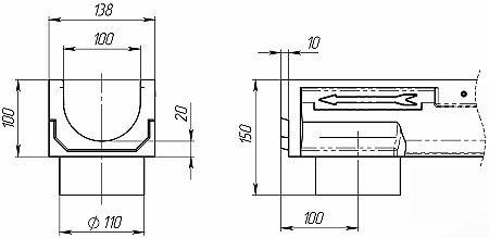 Лоток CompoMax Basic ЛВ-10.14.10-ПВ 703009