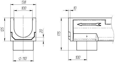 Лоток CompoMax Basic ЛВ-10.14.13-ПВ 700009