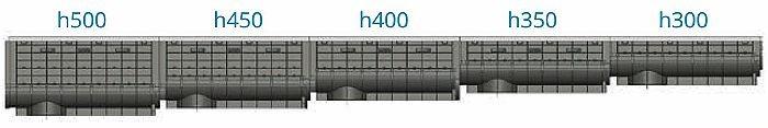 Каскад для лотка ЛВП DN300 H350 PARK комплект с решеткой