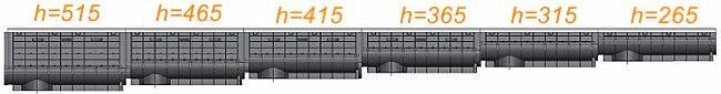 Каскад для лотка ЛВП Profi DN300 H465 С250 с решеткой