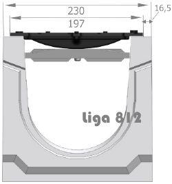 Посадка решетки в лотке ЛВБ Plus 150 №0/2 тип 2