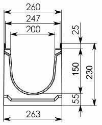 Схема 1: лоток 100.26,3 (20).23(17,5) - BGU-Z, № -10-0