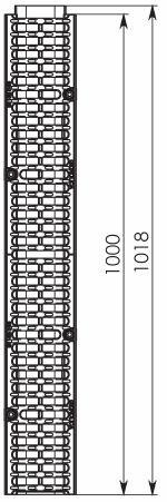 Чертеж 2: Лоток водоотводный Gidrolica Super ЛВ -10.14,5.20,5 - пластиковый, кл. E600