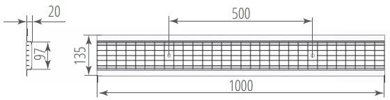 Решетка водоприемная ячеистая стальная оцинкованная DN100