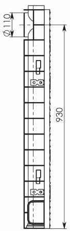 Чертеж 3: Комплект: Лоток водоотводный Super ЛВ -10.14,5.12 – пластиковый c решеткой чугунной кл. E (D)