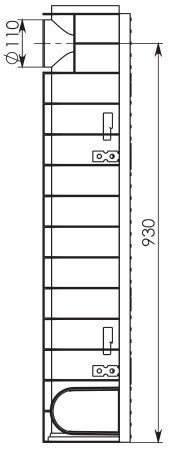 Чертеж 3: Комплект: Лоток водоотводный Super ЛВ -10.14,5.20,5 – пластиковый c решеткой чугунной кл. E (D)
