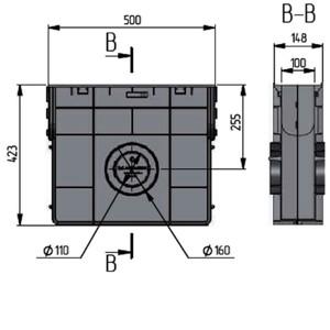 Пескоуловитель пластиковый ПП Norma DN100