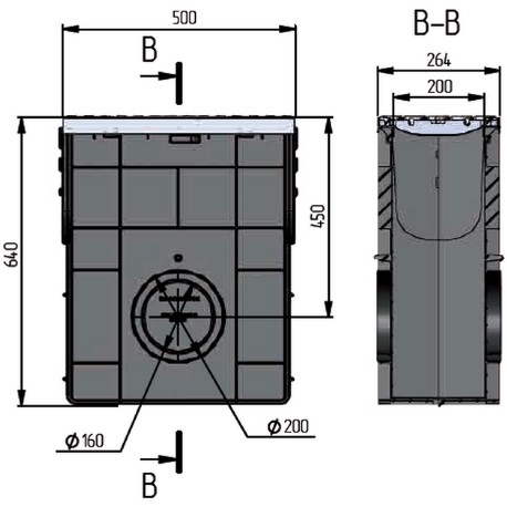 Пескоуловитель пластиковый ПП Profi DN200 E600 комплект