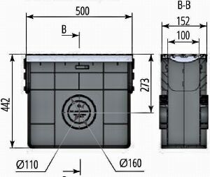 Пескоуловитель пластиковый ПП Profi DN100 E600 комплект