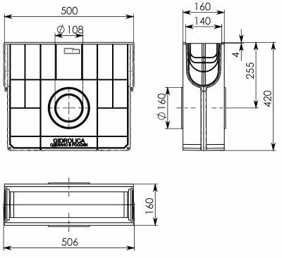 Пескоуловитель пластиковый Gidrolica Standart ПУ-10.16.42