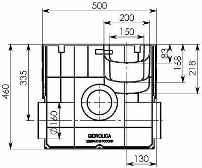 Пескоуловитель пластиковый Gidrolica Standart ПУ-20.24,6.46