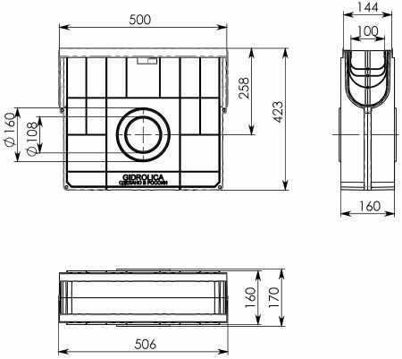 Пескоуловитель пластиковый Gidrolica Standart Plus ПУ-10.16.42