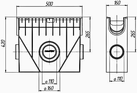 Пескоуловитель пластиковый PolyMax Basic ПУ-10.16.42