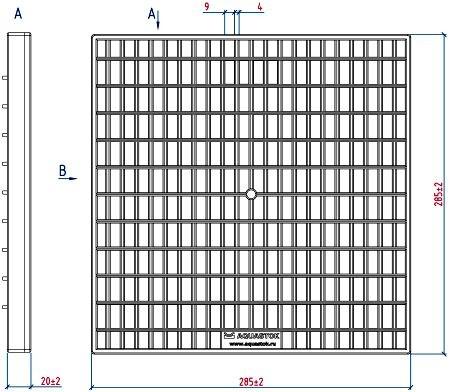 Пластиковая решетка для дождеприемника 300х300