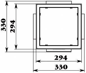 Схема дождеприемника Gidrolica Point ДП-30.30