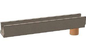 Лоток водоотводный ЛВ бетонный DN100 с вертикальным выпуском