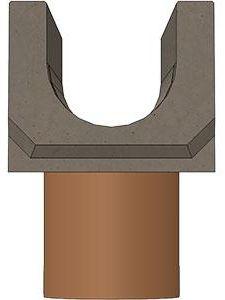 Лоток водоотводный ЛВ бетонный DN100 с вертикальным водоотводом