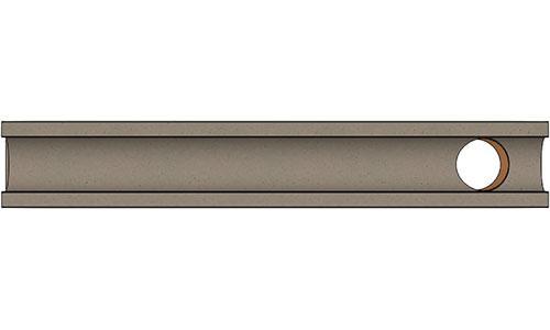 Лоток водоотводный ЛВ бетонный DN100 с вертикальным водосливом